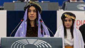 Yazidiska Nadia Murad och Maliya Aji Bashar