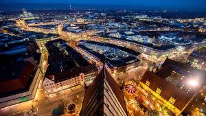 En luftbild tagen på Hannover centrum