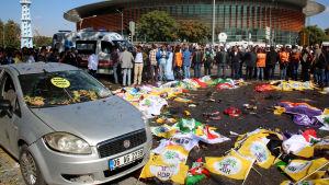 Terrordåd i Ankara dödade tiotals och skadade över hundra.