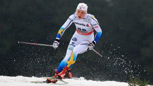 Julia Svan i Tour de Ski 28 december 2013.