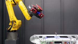 3D-skannare och robotarm