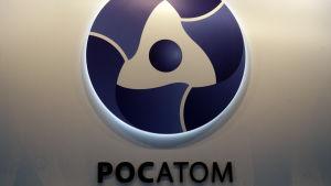 Det ryska kärnkraftsbolaget Rosatoms logo.