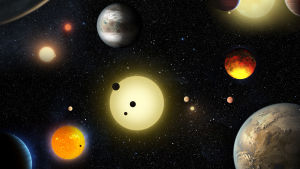 Illustration av exoplaneter