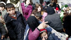 Tiotusentals syrier har flytt undan strider till den turkiska gränsen som har stängts tillsvidare