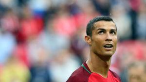 Cristiano Ronaldo i Portugals tröja.