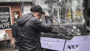 Bussbombning i Ukraina.