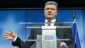 Ukrainas president Petro Porosjenko under toppmötet i Bryssel 27.6.2014.