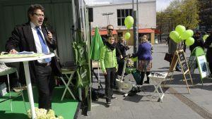 De gröna under EU-valskampanjen.