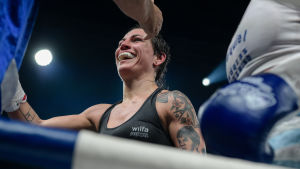 Eva Wahlström efter segern över Anahi Esther Sanchez, 16.12.2016.