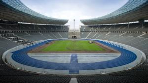 Olympiastadion i Berlin är finalarena för Champions League 2014-2015.