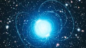 En konstnärs uppfattning av en magnetar.
