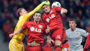 Bayer Leverkusens 1-0-seger i det första mötet mot Atlético Madrid bäddar för en högintressant retur i kvällens tv-match.