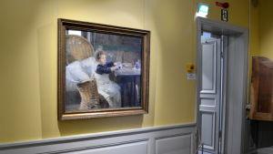 Helene Schjerfbecks målning Konvalescenten.