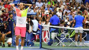Lucas Pouille har besegrat självaste Rafael Nadal i US Open.