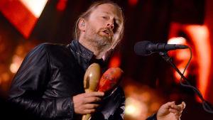 Radioheads sångare Thom Yorke på konsert i Berlin 2012