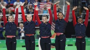 USA:s guldlag i artistisk gymnastik i OS i Rio 2016.