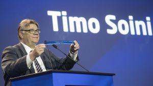 Timo Soini på partikongressen i Jyväskylä den 10 juni 2017.