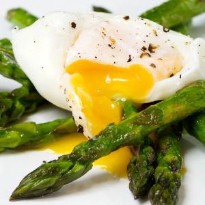 Sparris och ägg.