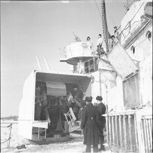 9.3.1940 Panssarilaiva Ilmarisen IT-tykki.