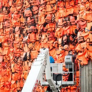 Installation av Ai Weiwei vid Konserthuset i Berlin