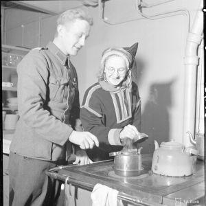 23.2.1940 Rovalan keittiö Rovaniemellä