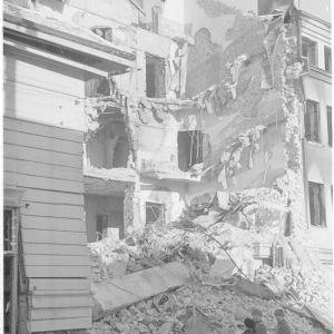 11.3.1940 Pommituksen jälkiä Kajaanissa.
