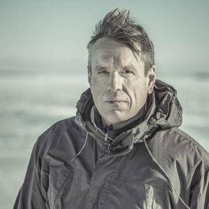Anders Engström under inspelningarna av Tjockare än vatten säsong 2.
