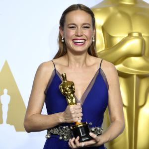 Brie Larson fick Oscar för bästa kvinnliga huvudroll i filmen Room