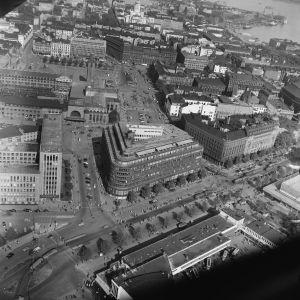 Vy över Helsingfors på 1950-talet.