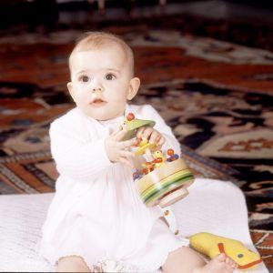 Kronprinsessan Victoria sex månader gammal i december 1977.