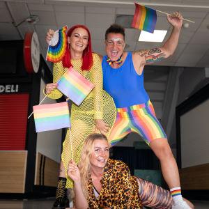 Helsinki Pride -konserttivieraita.