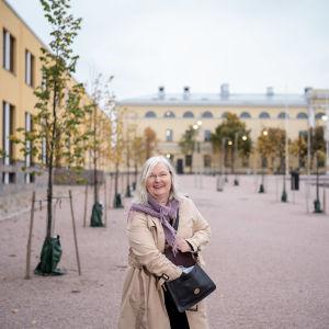 Suomen ulkoministeriön lähetystöneuvos Eija Limnell, Kestävän kehityksen ja ilmastopolitiikan yksikkö, UM, Helsinki, 8.10.2021.