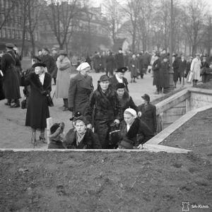 Ensihälytys Esplanadilla 30.11.1939.