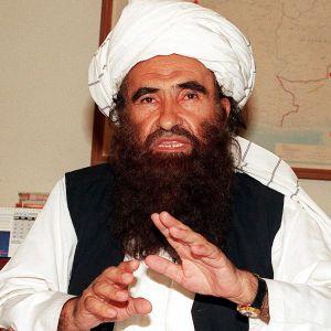 Talibanledaren Jalaluddin Haqqani 2001.
