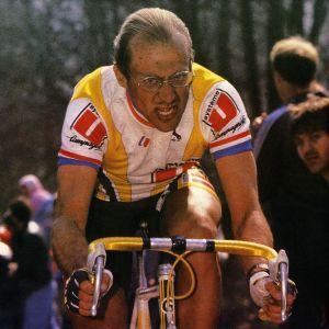 Laurent Fignoon under tävlingen 1988. Innan deltagarna hade hjälmtvång.