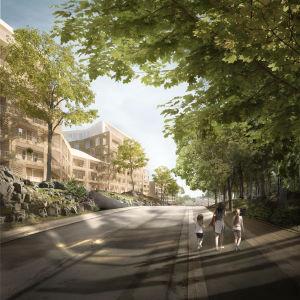 En arkitekts vision över Jungfrustigen vid Samppalinnabacken