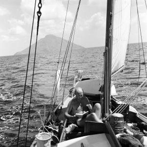 Göran Schildt på Daphne sommaren 1960.