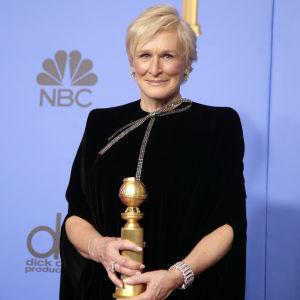 Rollen som frun till en nobelpristagare gav Glenn Close en Golden Globe.