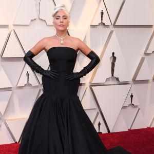 Lady Gaga på Oscarsgalan 2019.
