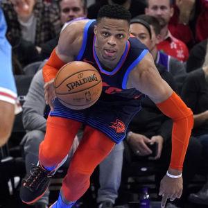 Russell Westbrook var i mäktig form i NBA.