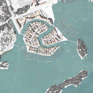 Canal Grande, en av vinnarna i arkitekttävling för Finno