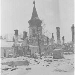 Vanhan kirkon kellotorni 7.3.1940.
