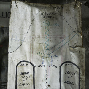 Vertikal karta på Kronbergets oljetunnlar.