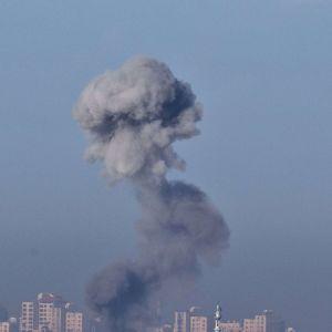 Vy från Gazaremsan efter en israelisk attack (15.11.2012).