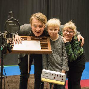 Roope Mäenpää, Justus Hautakangas ja Minttu Tervaharju
