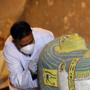 Hittills okänd mumie hittades i Luxor.