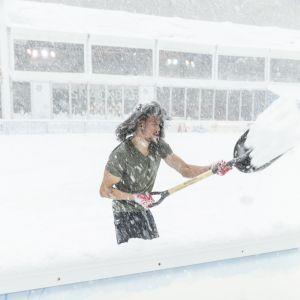 Snöstorm i New York 2018.