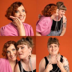 Kuvassa Vammaiskultin tekijät Jenniina Järvi ja Julianna Brandt.