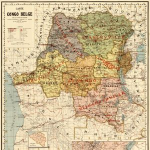 Kartta Belgian Kongosta