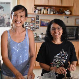 Sharon Cheah och Trisha Jaipragas har följt med palmoljeindustrin ända sedan de var studerande. De säger att den är så dominerande att det inte går att strunta i den
